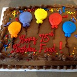Fred's 75th Balloon Birthday Cake