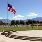 MOAA Memorial 2015 at NM Veterans Memorial - Beautiful Flag & Mountains!