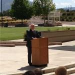 MOAA Memorial 2015 at NM Veterans Memorial - Walter Paul, President, Albuquerque Chapter