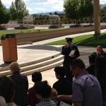 MOAA Memorial - Chaplain Brunson (speaking), Walter Paul & others