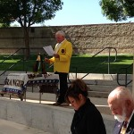 MOAA Memorial - Roger Knight Reading Memorial Names