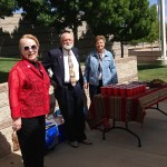 MOAA Memorial Social - Mary Kay, Chuck & Frances serving Punch & Brownies