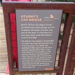 SF Botanical Garden - Kearny's Gap Bridge (1913) - sign