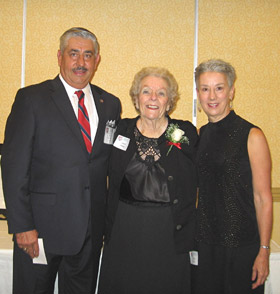 Maj Bob Rider (Chapter President), Joanne Phillips & Sandy Rider