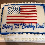 Fred's 75th Flag Birthday Cake