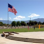 MOAA Memorial 2015 at NM Veterans Memorial - Beautiful Flag & Mountains!