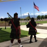 MOAA Memorial - Bagpipe Lament by Mike Henry & Molly Kearney (entering)