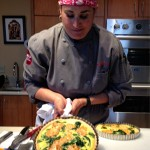 SF School of Cooking - Chef Michelle Roetzer with Chipotle Spinach & Goat Cheese Quiche