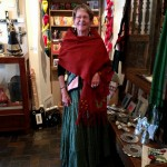 Spanish Colonial Art Museum - Docent Kay Lewis with her Shawl